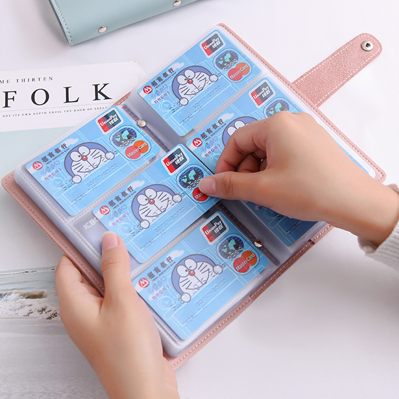 APP BLOG Function 96 Bits Women Men Credit ID Card Holder Case Business Bank Cards Bag Passport Cover Small Card Wallet 2019 New image