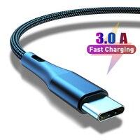 3A USB Typ C Kabel 1m 2m 3m Schnelle Lade Typ-C USB Kabel Code Für samsung S10 xiaomi redmi hinweis 7 QC 3,0 Handy Kabel