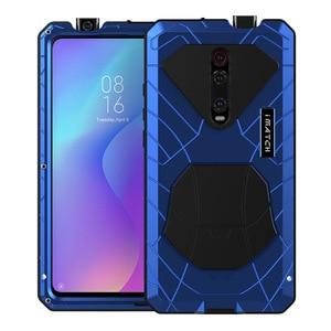 Image 1 - ل Xiaomi K20 برو جراب هاتف معدن الألمنيوم الصلب الثقيلة غطاء للحماية ل Xiaomi K20 برو مع الزجاج هدية