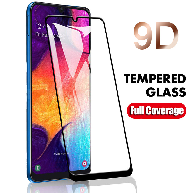 Tempered Glass For Samsung A10 A20 A30 A40 A50 9D Coverage All Glue Screen Protector For Samsung A60 70 80 90 Full Caverage