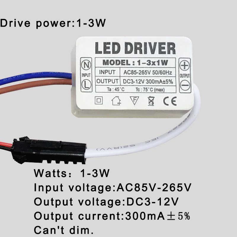 LED נהג 300mA 1W 3W 5W 7W 12W 18W 20W 25W 36W עבור נוריות אספקת חשמל יחידה AC85-265V רובוטריקים תאורת LED כוח אורות