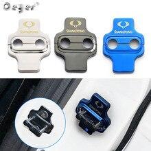 Ceeyes pegatinas para coche, accesorios, cerradura de puerta cubiertas para Chevrolet Sail Epica Lova Aveo Ssangyong Korando Chery A3 E5 para Builk
