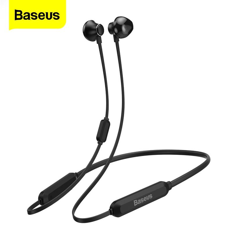 Baseus S11A, Bluetooth наушники, беспроводная гарнитура, шейные спортивные наушники, наушники для iPhone, Xiaomi, Samsung, с микрофоном