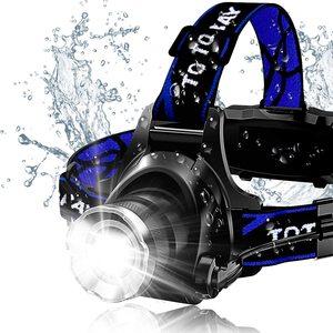 ZK20 дропшиппинг XM-L T6 6000LM светодиодный налобный фонарь с масштабируемой головкой, водонепроницаемый налобный фонарь, светодиодный светильни...
