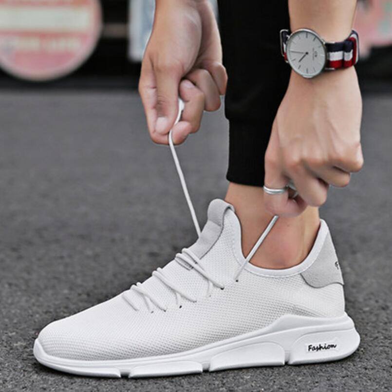 New men shoes fashion breathable mesh face black and white home comfortable wear non-slip soft bottom shoes39-44