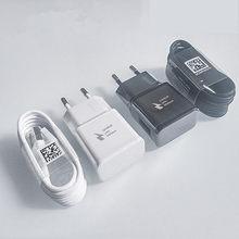 Para samsung s10 s8 s9 mais rápido carregador adaptador de alimentação 9v 1.67a carga rápida tipo c cabo para galaxy a30 a40 a50 a70 a60 m31 m31s