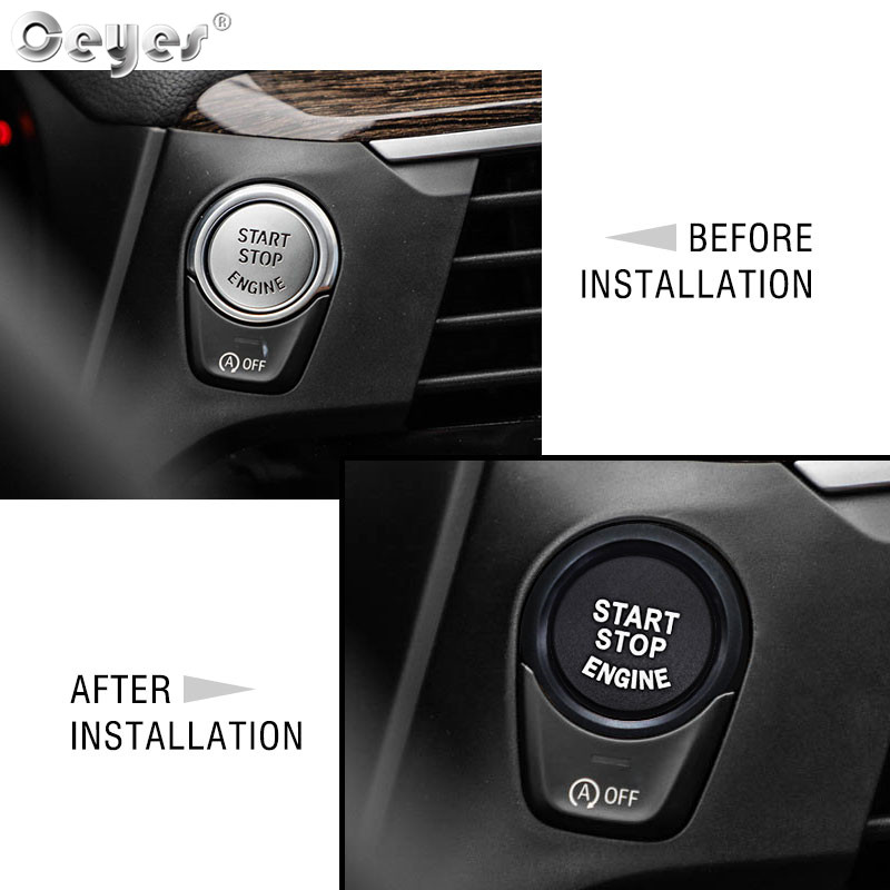 Image 2 - Ceyes For Bmw F20 F21 F30 F31 F10 Car Styling Stickers Engine Start Stop Button Rings Covers Case Decoration Switch Accessories-in Car Tax Disc Holders from Automobiles & Motorcycles