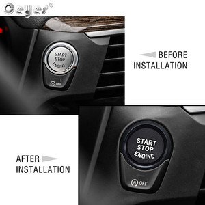 Image 2 - Ceyes For Bmw F20 F21 F30 F31 F10 Car Styling Stickers Engine Start Stop Button Rings Covers Case Decoration Switch Accessories