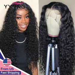 YYong 4x4 Lace Closure Wigs & 13x4 Lace Frontal Wig Remy Malaysian Water Wave Lace Front Human Hair Wig Pre Plucked Hairline