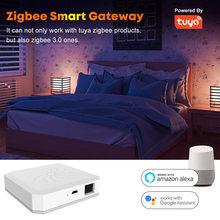 Casa inteligente assistente tuya zigbee inteligente gateway hub ponte e centro de controle de casa inteligente funciona com alexa casa do google