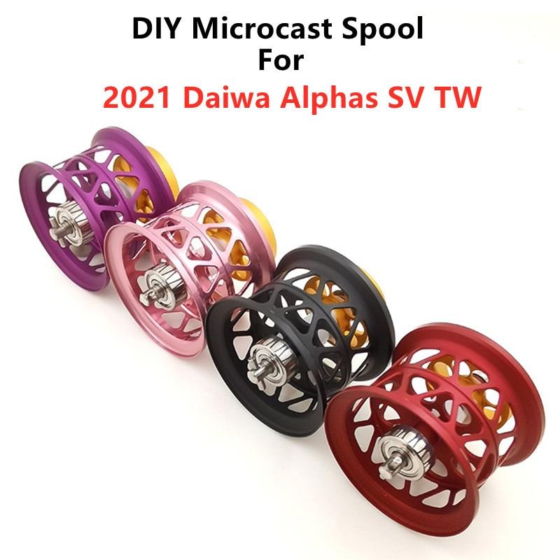 Новинка 2021, рыболовная катушка ALPHAS SV TW OD 32 мм Microcast DIY DAIWA