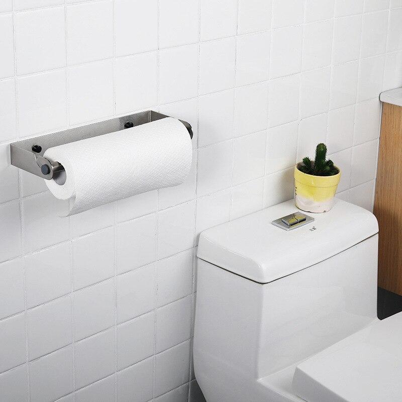 Нержавеющая сталь бумажные полотенца стойки пластиковый держатель для обертки дома ванная комната кухонные принадлежности