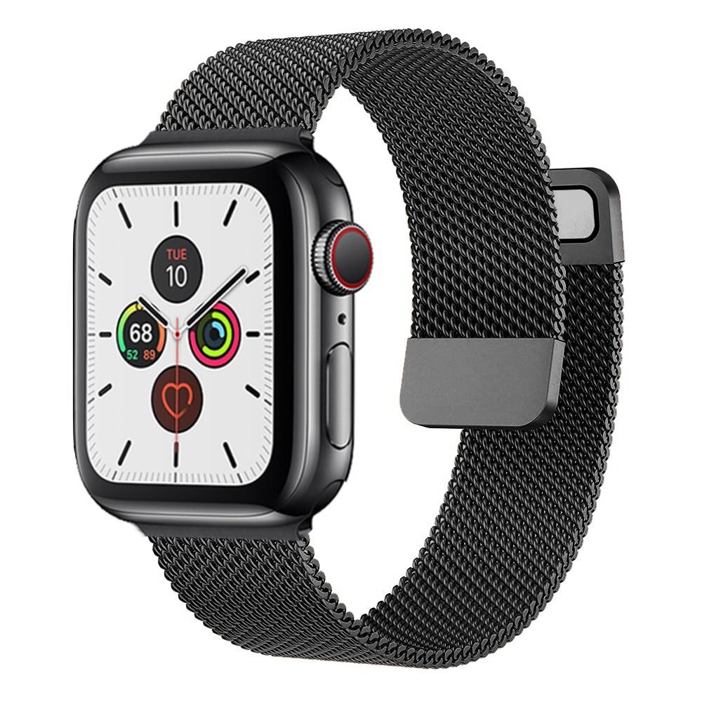 Bracelet métallique pour montre Apple watch, boucle magnétique, 44mm 40mm 38mm 42mm 44mm, iWatch série 3 4 5 6 se