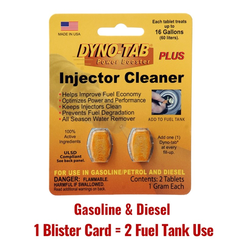 Dyno Tab Fuel Injector Cleaner Petrol Gasoline & Diesel Fuel Treatment Of The Economy Saver Carbon Cleaner (2 Fuel Tank Use)