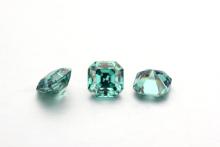 Starszuan piękny zielony Asscher Cut 9*9mm Moissanite luźny kamień 4ct dobrej jakości kamień Moissanite do tworzenia biżuterii tanie tanio green Grzywny 8*8mm