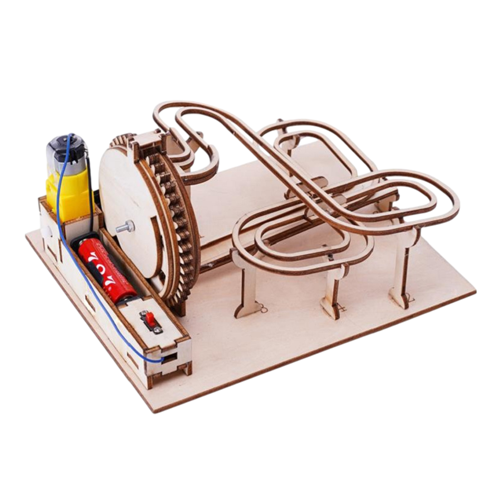 Science Experiment Educational Kit 3D Wooden Marble Run DIY Assemble Mechanical Gear Engineering Model Puzzles For Kids Adults