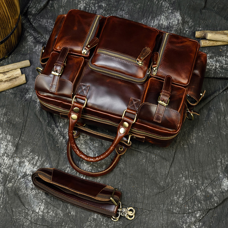 """H49b91f550b6549fbbb44e1c7a36b0ebbs MAHEU Men Briefcase Genuine Leather Laptop Bag 15.6"""" PC Doctor Lawyer Computer Bag Cowhide Male Briefcase Cow Leather Men Bag"""