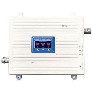Image 2 - Трехдиапазонный усилитель сигнала VOTK GSM DCS 3G! Мобильный 2G 3G 4G ретранслятор сигнала 900 1800 2100 МГц усилитель сигнала