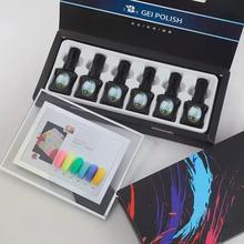 Bozlin 6 renk serisi oje jel lehçe kapalı islatın 15 ml UV jel manikür renk tırnak sanat aracı jel tırnak vernikler gerekir pardösü