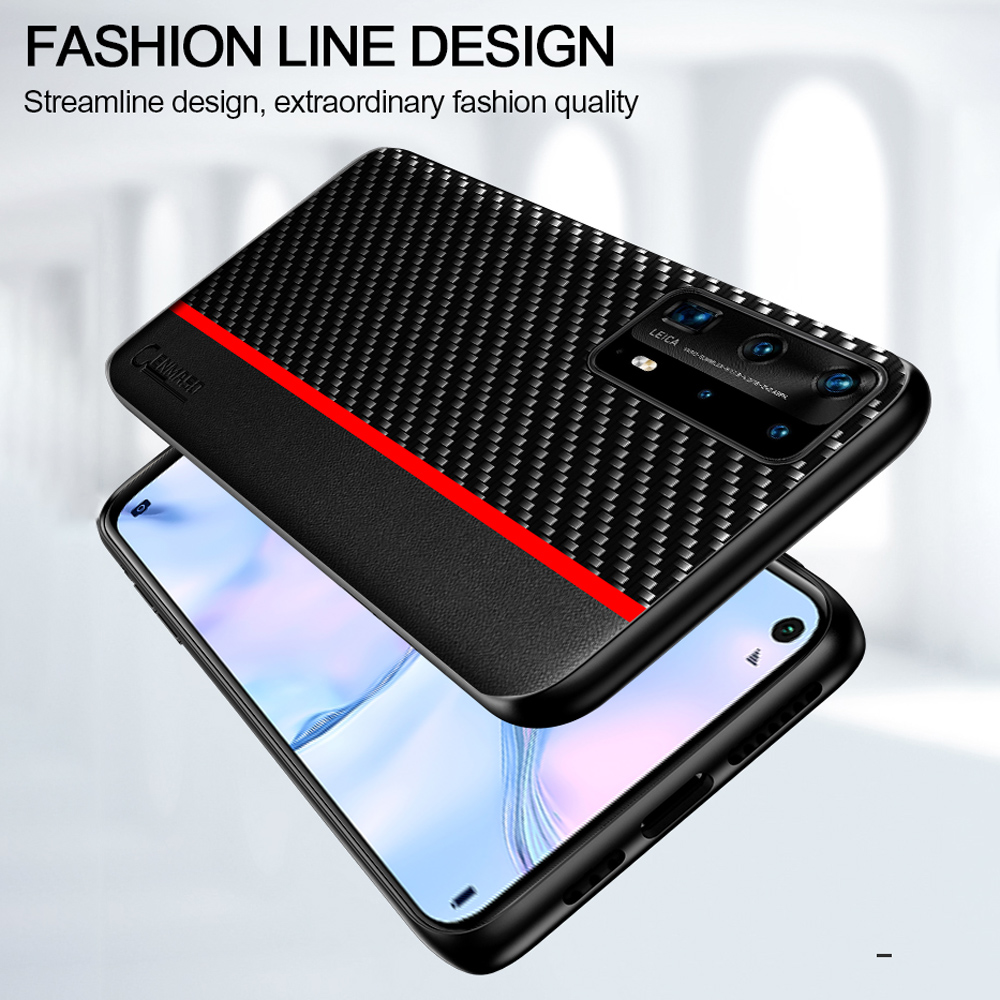 For Huawei P40 P30 Pro P20 Lite Case For Huawei Mate 20 30 Pro Honor 20 V30 Case Original Carbon Fiber Leather Shockproof Cover