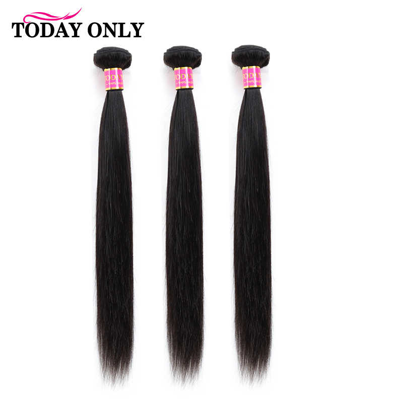 TODAY ONLY Peruvian Straight Hair 3 Bundles 100% Remy Human Hair Bundles Hair Extension Natural Color 8-26 Inch Free Shipping