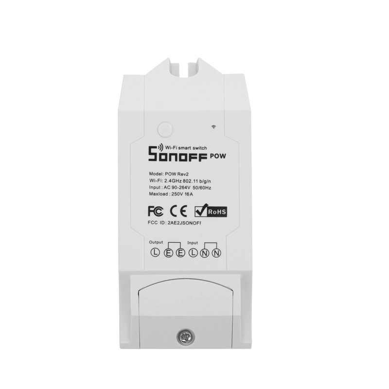 SONOFF POW R2 contrôleur de commutateur Wifi eWelink app 16A 3500W consommation d'énergie en temps réel moniteur mesure domotique intelligente