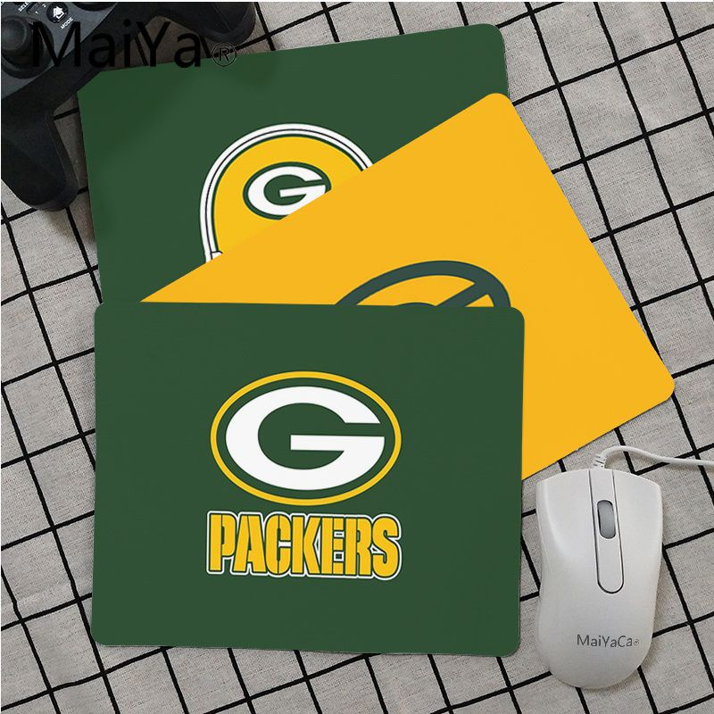 Maiya High Quality Green Bay Packers Unique Desktop Pad Game Mousepad Top Selling Wholesale Gaming Pad Mouse