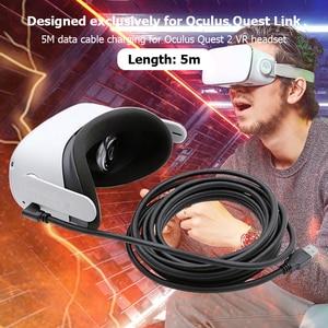 Image 1 - 5M Data Line Oplaadkabel Voor Oculus Quest 2 Link Vr Headset Kabel Usb 3.0 Type C Transfer USB A naar Type C USB3.2 Gen1 Kabel