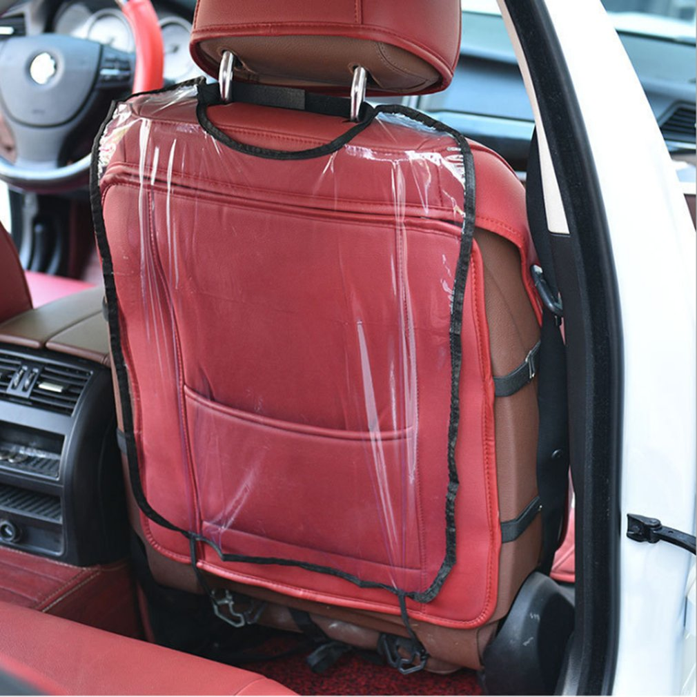 Car Care Seat Protection Backrest Cover Kids Protective Cover Transparent Cleaning Anti-Kick Pad Auto Parts Accessories
