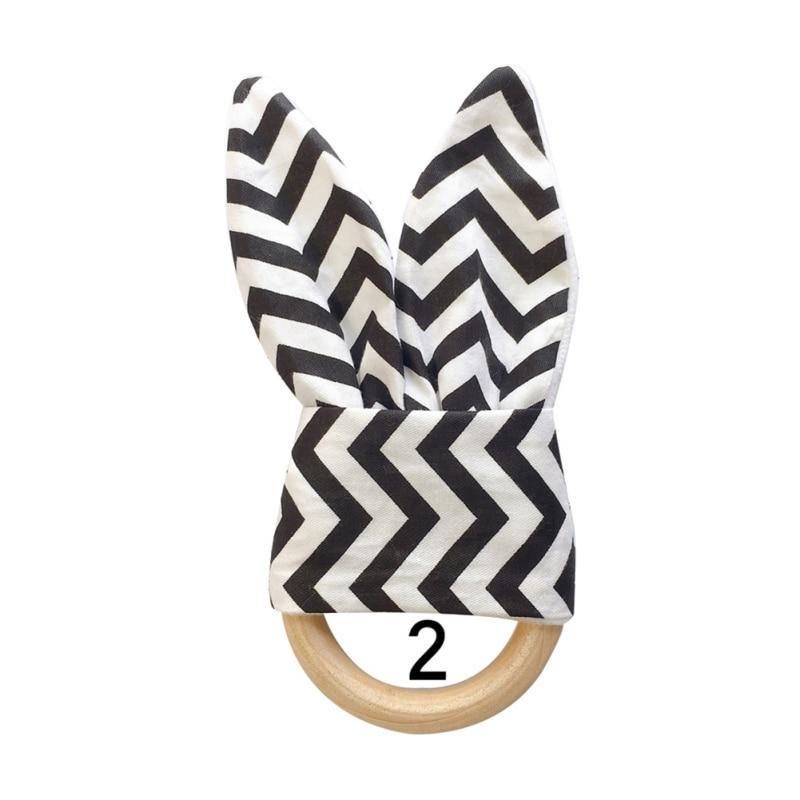 Милый детский Прорезыватель деревянное кольцо зубное кольцо детский прорезыватель зуб упражняющая игрушка - Цвет: B