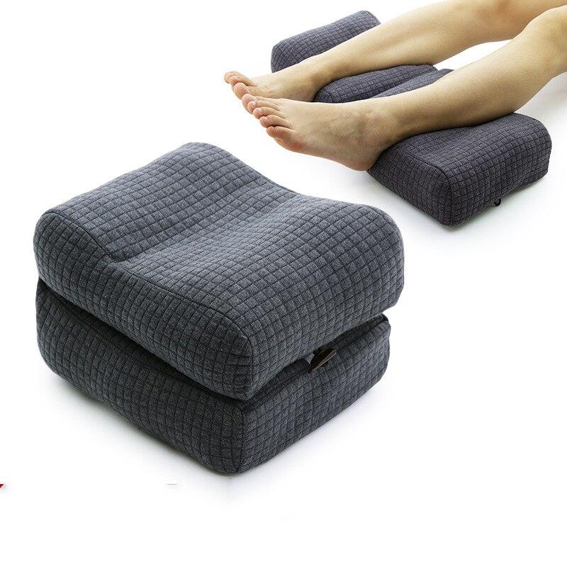 1PC 57X25CM Perna Travesseiro Maternidade Malha de Algodão Macio Tecido Aliviar Varizes Perna de Liberação de Pressão Saudável cuidado Pode Ser Dobrável