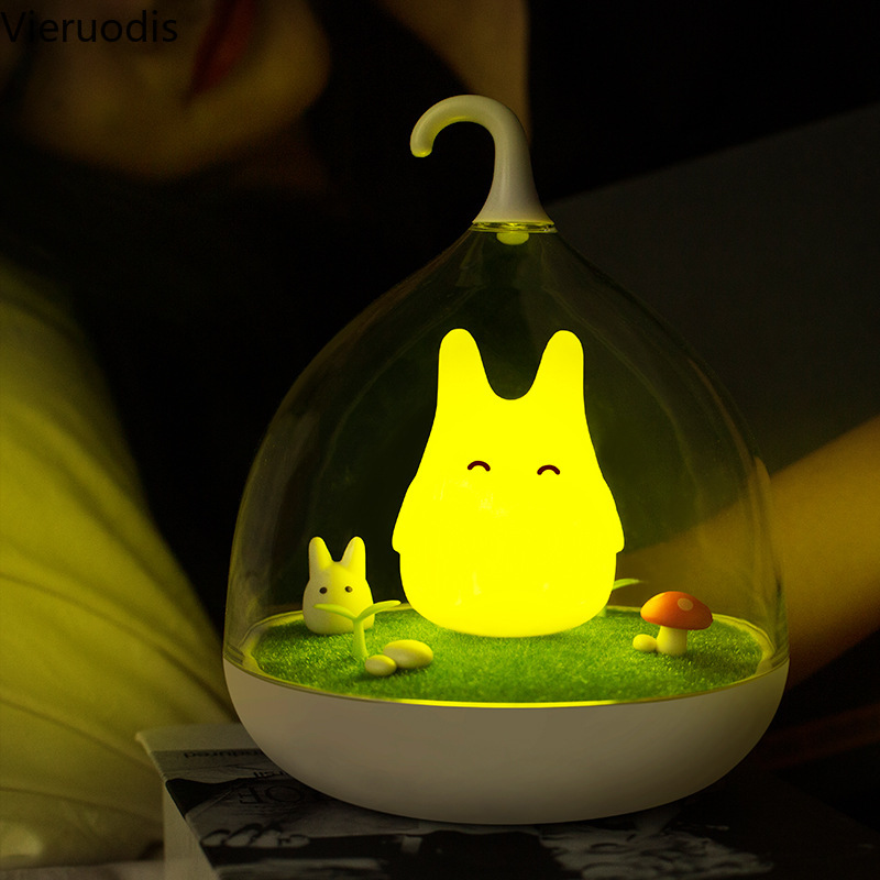 Touch Sensor Night Light Creative Totoro LED Lights Children Gift Bedside Lamp Bedroom Art Decor Table Lights Sleep Lighting