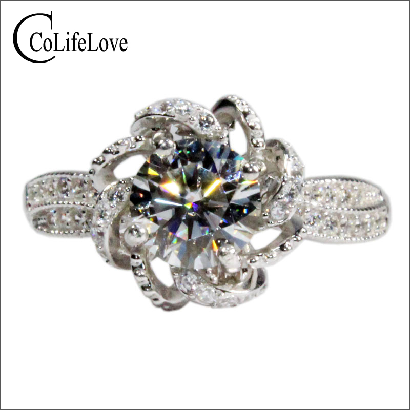 CoLife Jewelry 925 Silver Moissanite 1ct 2ct 3ct D Color VVS1 Grade Moissanite Wedding Ring For Woman Romantic Gift