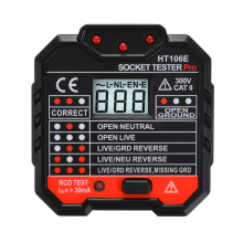 48-250 В профессиональный тестер электрической розетки RCD штепсельная розетка стандарта Великобритании тестер напряжения утечки переключатель детектор измерения