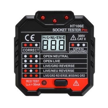 48-250 V nowy profesjonalny elektryczny miernik do gniazdka RCD UK Plug Socket tester napięcia detektor przełącznika wycieku pomiar tanie i dobre opinie Mayitr Socket Tester Electric Socket Tester