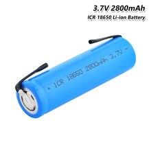 1P-8P перезаряжаемый ICR18650 3,7 в 2800 мАч 100% оригинальный 18650 литий-ионный плоский литий-ионный аккумулятор для батареи + DIY никелевая деталь