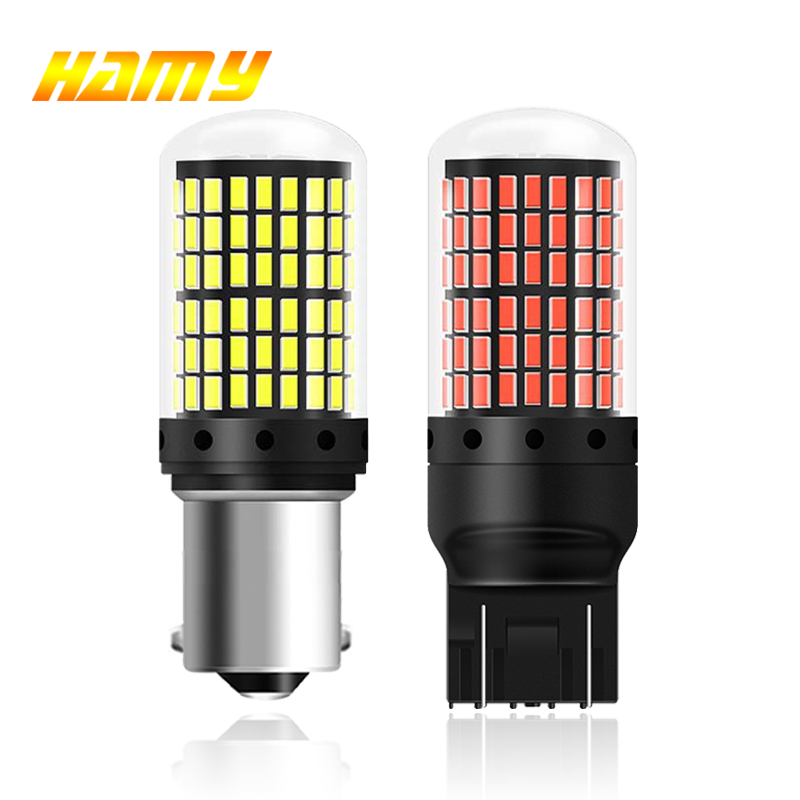 1x P21W PY21W Car LED Bulb Ba15s 1156 Bau15s T20 WY21W W21W 7443 High Power LED Signal Light Canbus No Error Auto Reverse Lamp