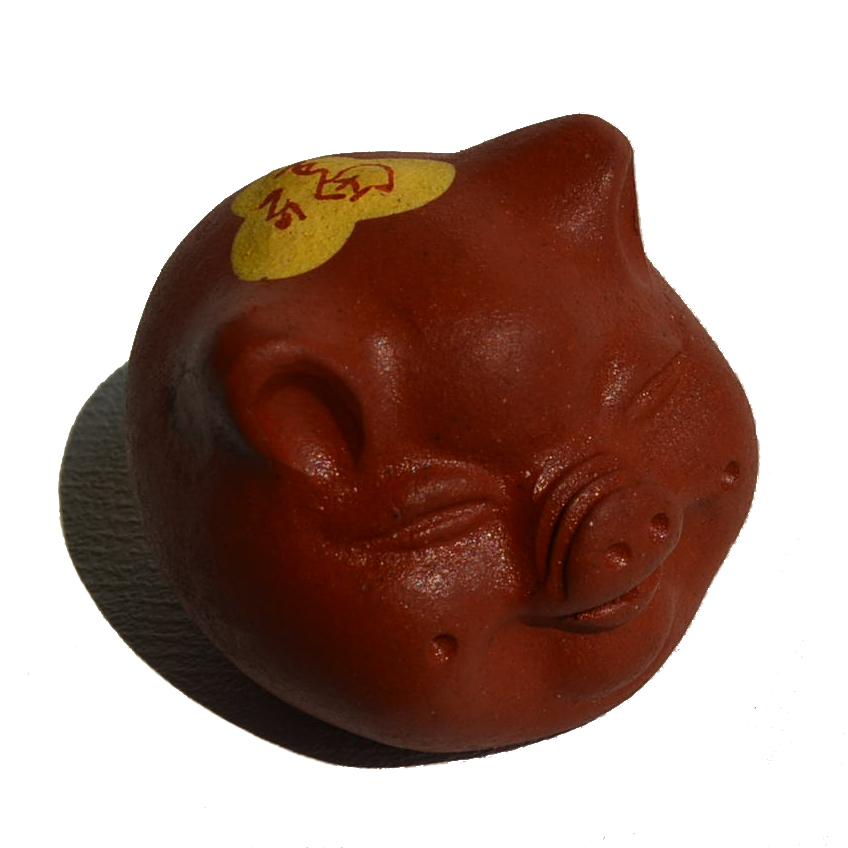 Mini Tea pet small pigs 5pcs Chinese Yixing purple clay Kungfu teaware Fengshui home decoration accessories