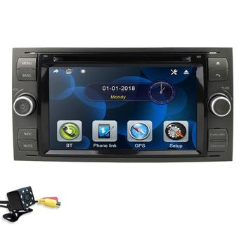 2din car autoradio 7 inch dvd monitor for Ford focus/Fiesta/Kuga/C-Max/Connect/Fusion/Galaxy/Mondeo/S-Max/Transit swc rds bt cam image