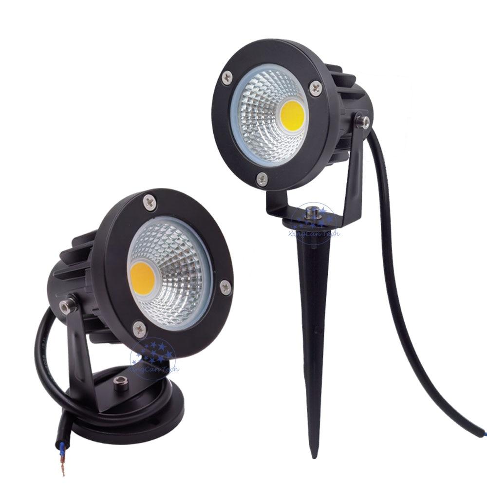 IP65 COB Garden Light 10W LED Lawn Lamp Light 220V 12V Outdoor Spotlight 3W 5W 12W Outdoor Led Spike Light With IP67 Connector