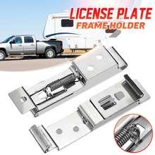 Bracket-Rack License-Plate Car-Number Camper Frame-Holder Stainless-Steel European 2pcs