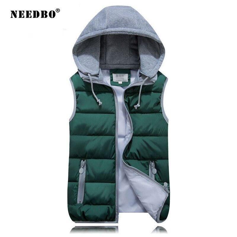 NEEDBO Women Sleeveless Jacket Women's Vest Jackets Winter Outerwear Tops Plus Size Autumn Female Vest Windproof Warm Waistcoat
