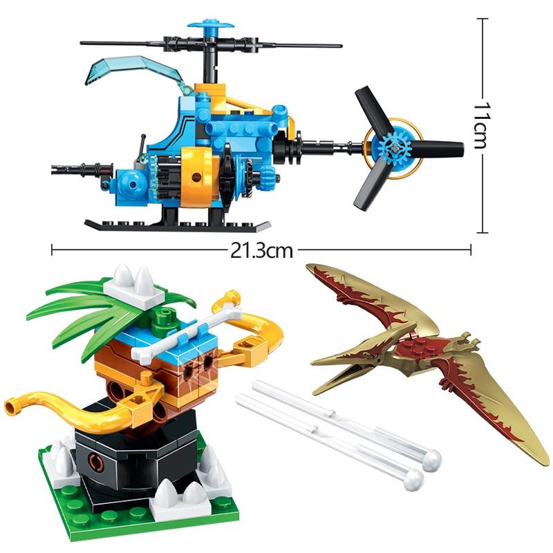 Winner Jurassic Parked Helicopter Model Building Blocks