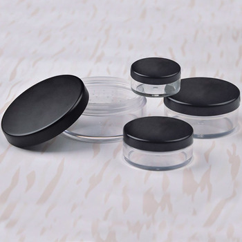30g/50g Empty Loose Powder Pot Plastic Clear Reusable Empty Loose Powder Box Makeup Cosmetic Container Cosmetic For Travel
