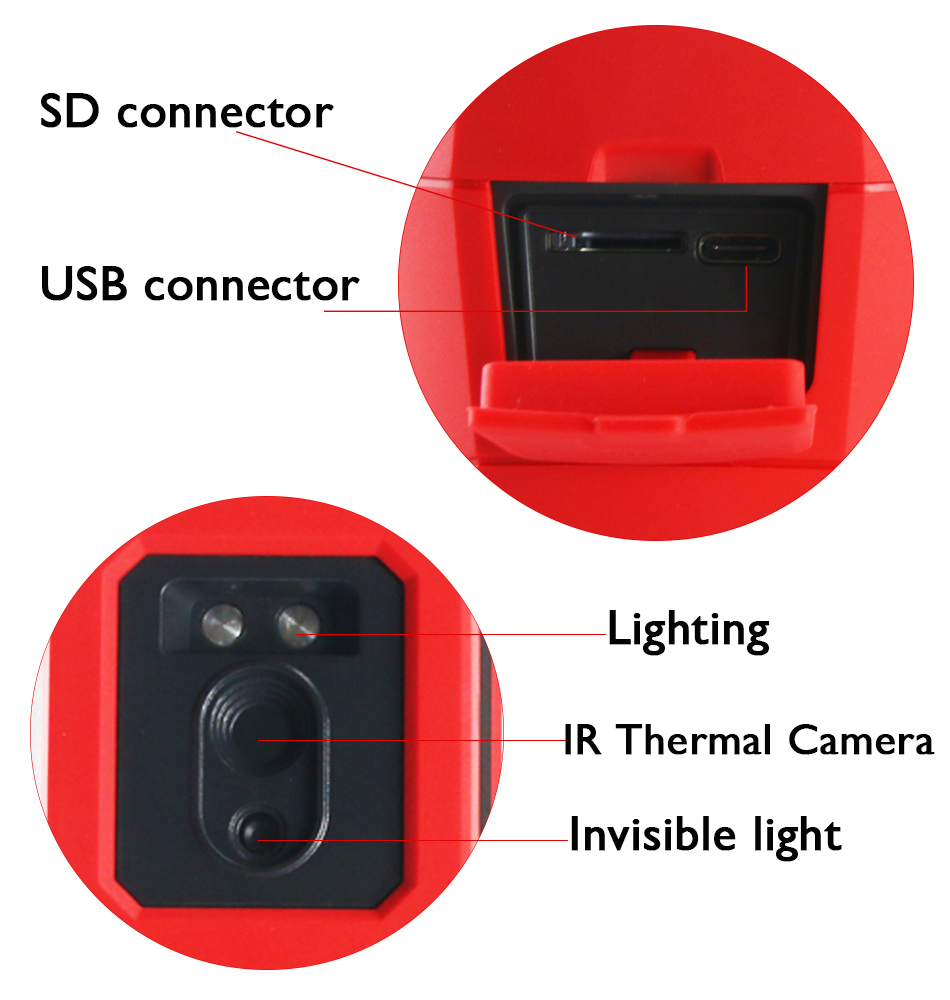 UNI-T UNIT UTi165K Thermal Imager 160×120 Infrared Camera Temperature Detector 30˚C~45˚C SD card storage PC software analysis
