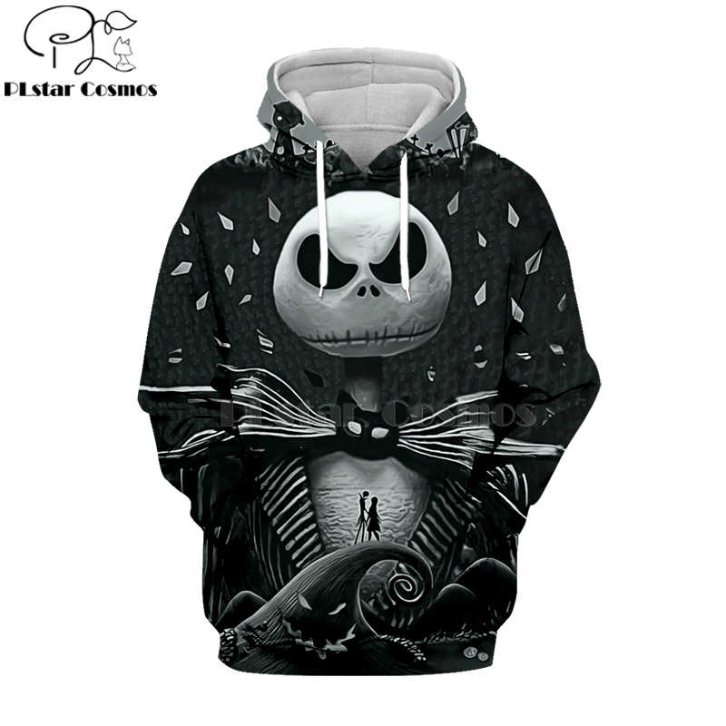 PLstar Cosmos nightmare before christmas jack skellington 3d hoodies/shirt/Sweatshirt Winter Kerst Halloween streetwear-3