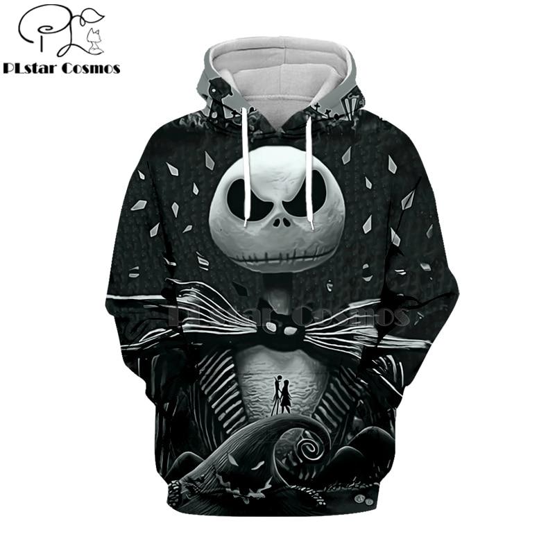 PLstar Cosmos Nightmare Before Christmas Jack Skellington 3d Hoodies/Sweatshirt Winter Christmas Halloween Streetwear-3