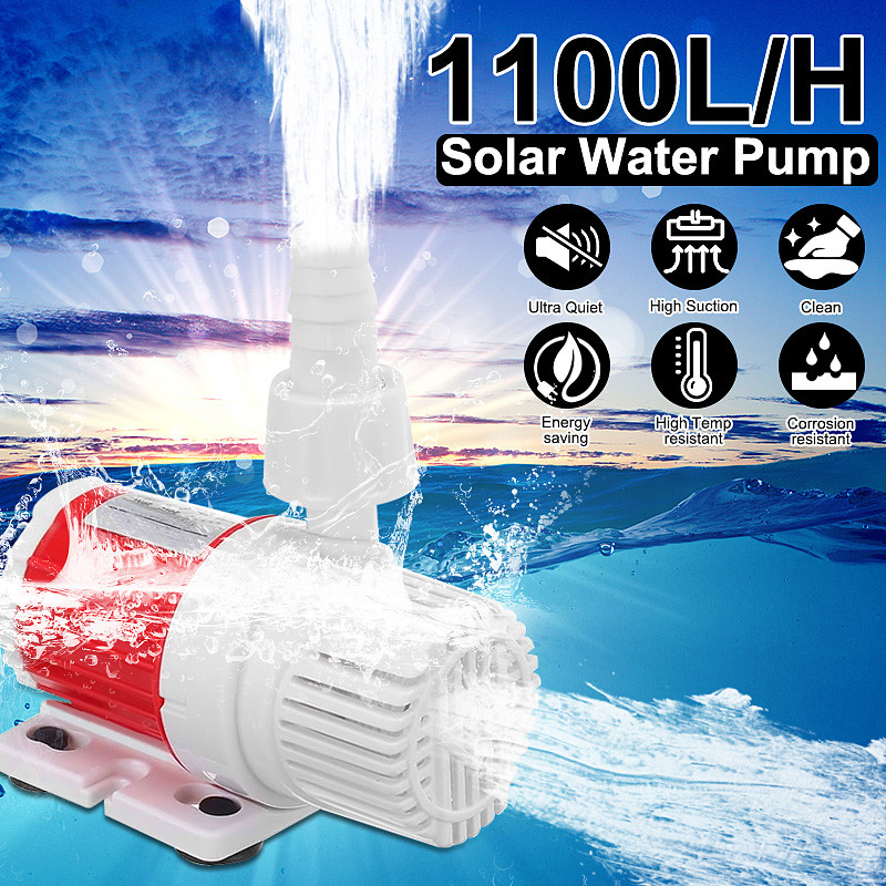 12V 20W DC 1100L/H Energy Saving Submersible Water Pump Marine Controllable Adjustable Speed Water Pump Fish Tank Aquarium