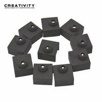 La creatividad 20/50 Uds MK8 funda protectora de silicona calcetín funda para calentador de bloque de MK8/MK9/CR10 de silicona extremo caliente calcetín 3D piezas de la impresora