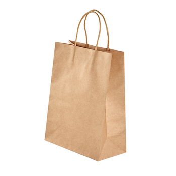 10pcs Kraft Paper Bag with Handles Solid Color Gift Packing Bags for Store Clothes Wedding Christmas Party Supplies Handbags